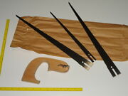 Vtg Disston No.7 Nest Of Saws Compass Style Handsaw Nos 3 Blades Wood Handle