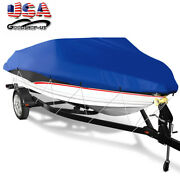 14-22ft 210d Oxford Boat Cover Trailerable Waterproof Fit Fishing V-hull Boats