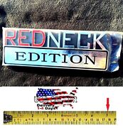 Redneck Edition High Quality Decal Exterior Emblem Car Truck Sign Fits All Cars