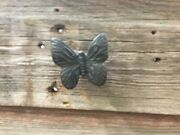 New Cast Iron Butterfly Drawer Pull Set Of 6 1184-740756 Free Shipping