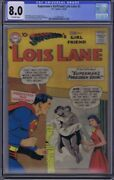 Supermanand039s Girl Friend Lois Lane 2 Dc 1958 Cgc 8.0 Very Fine