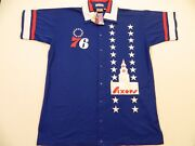 M116 500 Mitchell And Ness Philadelphia 76ers Bell Warm Up Jersey Jacket Men's 56