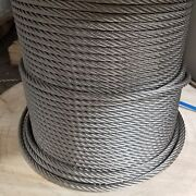 5/8 Stainless Steel Wire Rope Cable 6x19 Iwrc Type 304 500 Feet