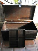 South Cone Large Country Rustic Leather And Mahogany Storage Trunk Chest Must See