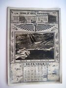 1920 Wwi Calendar For Month Dec.1920 W/ Us Army School Of Aerial Photography