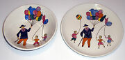 Vintage Hand Painted Pottery Barn Plate & Bowl Set Made In Italy No. 203