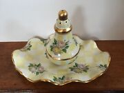 Mackenzie Childs Lemon Curd Pottery Shaker and Tray 1995 Victoria and Richard