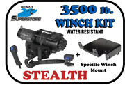 Kfi 3500 Lb.stealth Winch Mount Kit And03908-and03919 Polaris Ranger 570 Rzr / 800 Rzr