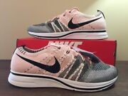 Nike Flyknit Trainer Ah8396-600 Sunset Tint Pink Black White Ds Size 11.5