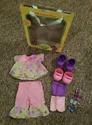Cabbage Patch Kids Fashion Frenzy Pink/green Floral Outfit With Accessories