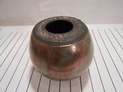 Iridescent Copper, Teal, Green RAKU Pottery Vase Signed