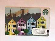 New Mint Starbucks Card 2011 San Francisco Painted Ladies Limited Edition
