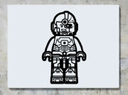 Lego Cyborg Justice League Dc Comic Hero Wall Decal Art Sticker Picture