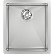 Abey Piazza Single Square Bowl Sink 390x445mm Stainless Steel Australian Brand