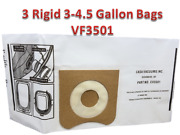 3 Replacements Ridgid Vf3501 3-4.5 Gallon Wet/dry Vacuum Bags Part Vf3501