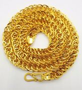 Hollow 22k Yellow Gold 20 Link Chain Necklace 19.950 Gm Rajasthan India Gift