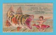 Advertising - Frank W. Day Of Chambersburg - Child And Fish D - 1883