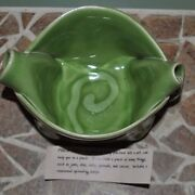Hilborn Pottery Canada Signed Small Pinch Pot Bowl Green