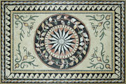 Nautical Star Leaves Waves Ropes 94x63 Marble Mosaic Cr471