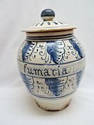 Vintage Italian Hand Painted Pottery Canister w/ Lid