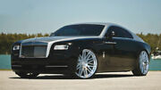 """24"""" Rf24 Brushed Silver Wheels Rims For Rolls Royce Ghost Wraith 24x9 / 24x10"""