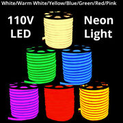 3and039 -330and039 110v Commercial Led Flexible Neon Rope Strip Light Decor Flex Tube Sign