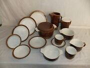 C4 Pottery Poole Chestnut - Plates Bowls Tureens Cups Saucers Jugs - 2b4a
