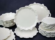 """(1) Only San Marco Cream Italy Embossed Shells Scrolls Dinner Plate 10"""" RARE"""