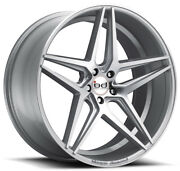 """22"""" Blaque Diamond Bd-8 Silver Wheels For Dodge Charger Rwd"""