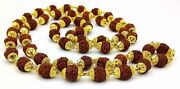 22ct Traditional Design 22k Gold Chain Necklace Gold Cap Rudraksh Beads Mala