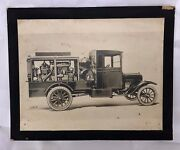 Antique C1920 National Brake Electric Gas Engine Compressor Truck Photo
