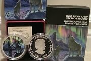 2016 Northern Lights Moonlight Wolf 30 2oz Pure Silver Coin Canada Glow-in-dark