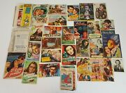 Collection Of 121 Brochures In Hand. Spanish Cinema. Years 40 / 60.