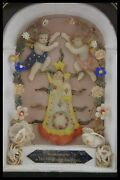 Anddagger Angels + Virgin And Child Wax Figure Bvm Reliquary Notre Dame Du Haut - France Anddagger