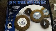 220pc 4 Wire Wheel And 3 Cup Brush Set 11083 For Drills Rust And Paint Remover