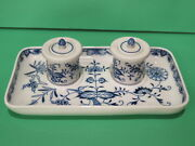 Meissen Blue And White Ink Well Inkwell Blue Onion