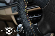 For Opel Manta A 70-75 Perforated Leather Steering Wheel Cover Beige Double Stch