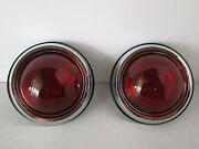 1950 Pontiac Tail Lights Chevy Ford Hot Rod Rat Rod Universal 50 Pontiac 8258