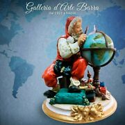 Porcelain By Capodimondeand039 Santa Claus With Globe And039