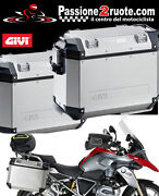 Givi Outback 37 Pair Of Side Cases With Pl5108cam Bmw R 1200 Gs Adventure