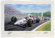 Tony Smith Red 5 Double World Champion Motor Racing Indycar Signed Nigel Mansell