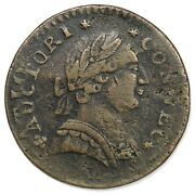 1788 3-b.2 R-6 Overstruck On Nova Connecticut Colonial Copper Coin