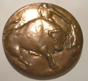 Seville Spain Rare Bronze French Medal Bullfighting