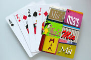 Personalized Playing Cards Featuring Mia In Photos Of Actual Signs