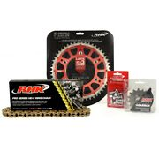 Honda Cr250-r 1984 1985 Gold X-ring Chain Red Rear Front Sprocket Kit