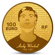 France 100 Euro Great Painters Andy Warhol Gold 2011 Proof