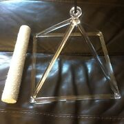 12in Quartz Crystal Singing Pyramid High Vibrational Healing Tool For Therapists