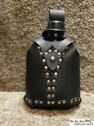 Quality New Military Water Bottle With Leather Support. Belt Or Shoulder Strap.