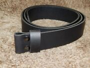 Quality 9 Oz Buffalo Leather Plain Belt To Put Your Favorite Buckle, Thick 9oz