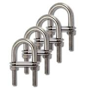 M6 X 80mm 316 Boat Stainless Steel Heavy Duty U Bolt Boat Pipe Clamp 4 Piece